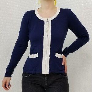 Monogram (HWR) Annika zip-up cardigan